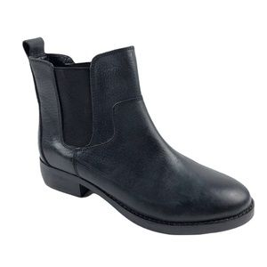 Shellys London black leather booties size 6